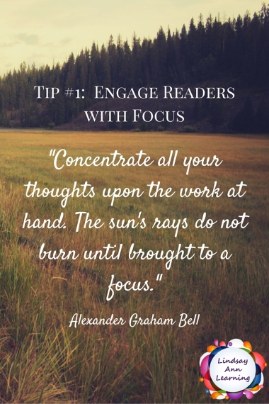 -Concentrate all your thoughts upon the work at hand. The sun's rays do not burn until brought to a focus.-